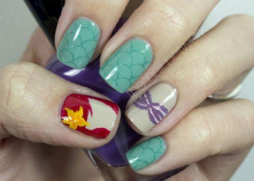 The Little Mermaid Nails - The Little Mermaid Nails The Little Mermaid Pinterest