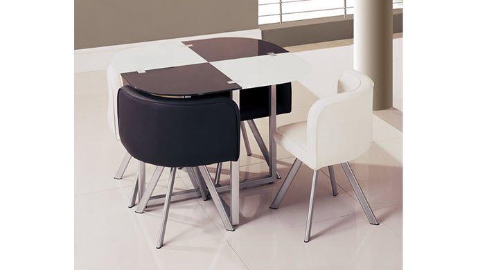 5 Piece Set Contemporary Trellis Checkerboard Dining Table
