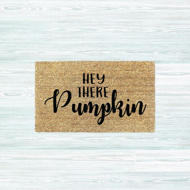 Hey There Pumpkin Fall Decor Mat Doormat