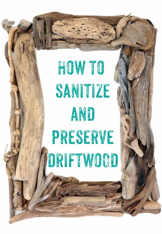 How to clean driftwood – definitely using this one for all the pieces Ive been hoarding to make that wreath! #beach_crafts_glass