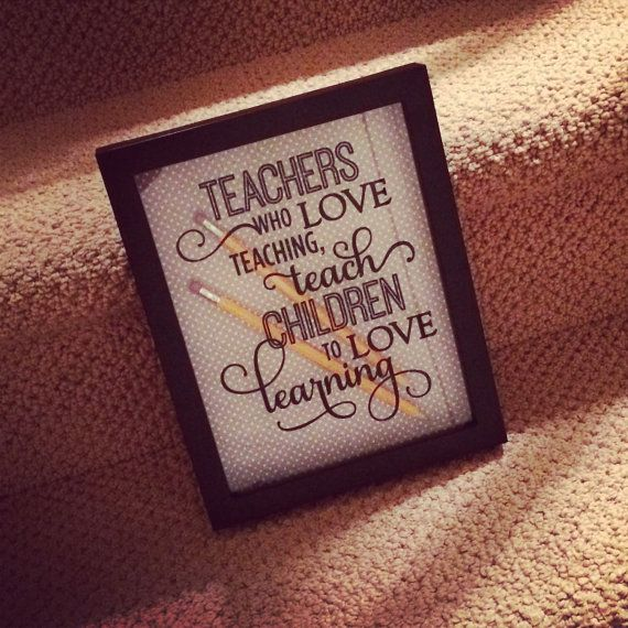 Teacher Appreciation Shadow Box by LittleLostButtonDC on ...