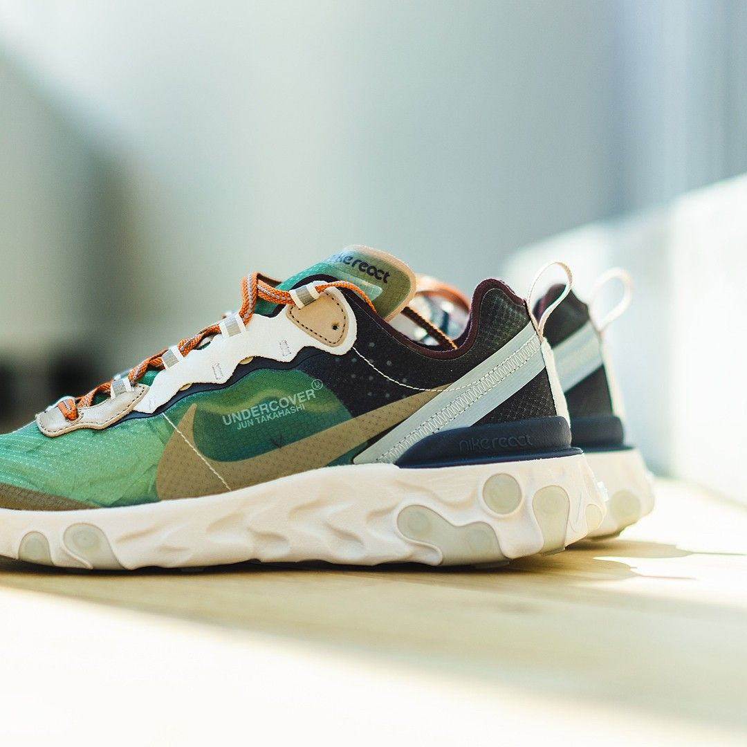 5027c4f75383e Undercover x Nike React Element 87 Green Mist dropping September 29th. 💥  📷 by  ldn2hk  epicreact  reactelement  fashion  highsnobiety  hypeb…