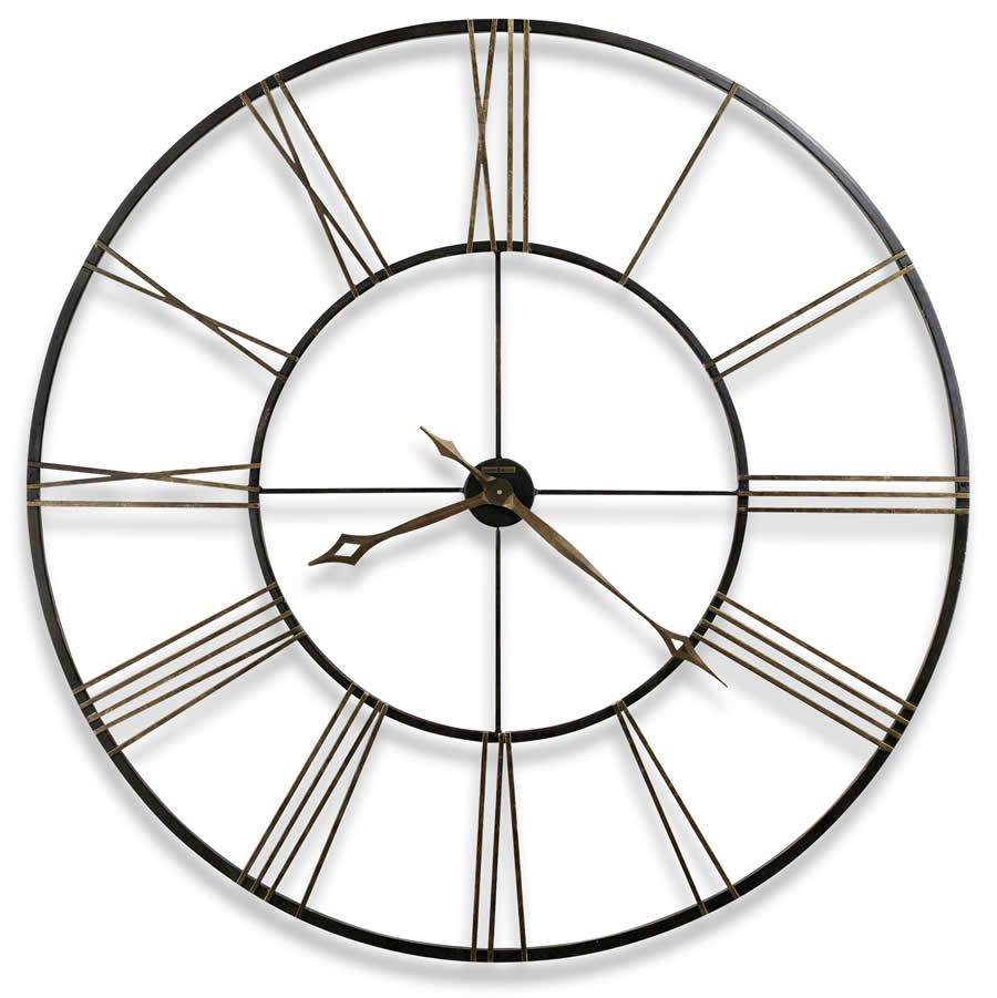 "Howard Miller 49"" Large wrought-iron wall clock Postema"