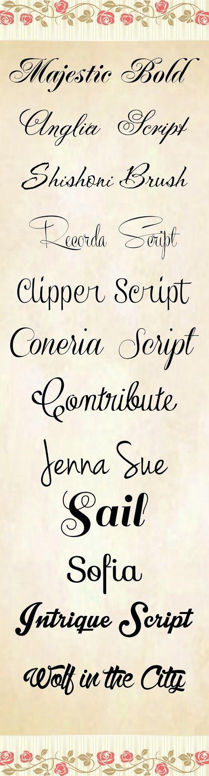 99 Tipos De Letras O Fuentes Cursivas Para Crear Tarjetas De