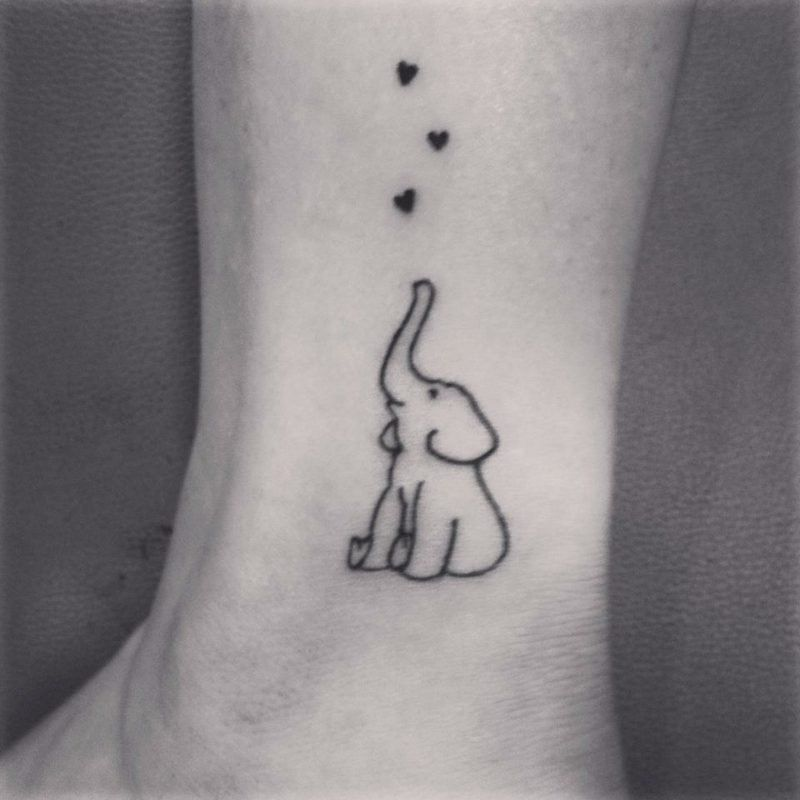 Elephant Tattoo Symbols And Meanings Simple Elephant Tattoo Tattoos Elephant Tattoo Small