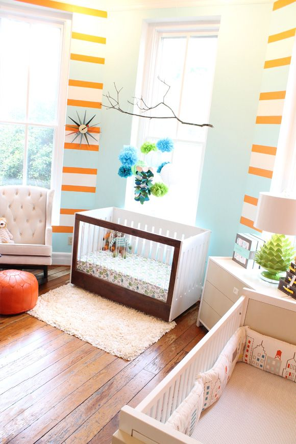 Cute nursery and love the artichoke lamp. | Kids Spaces | Pinterest ...