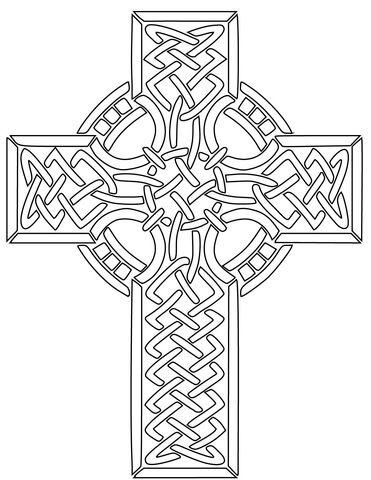 Ausmalbild: Keltisches Kreuz. Kategorien: Keltische Kunst ...