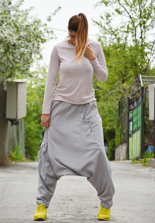 Loose Pants Linen Pants Baggy Pants Linen Harem Pants Harem Trousers Drop Crotch Pants Plus Size Clothing Women Pants
