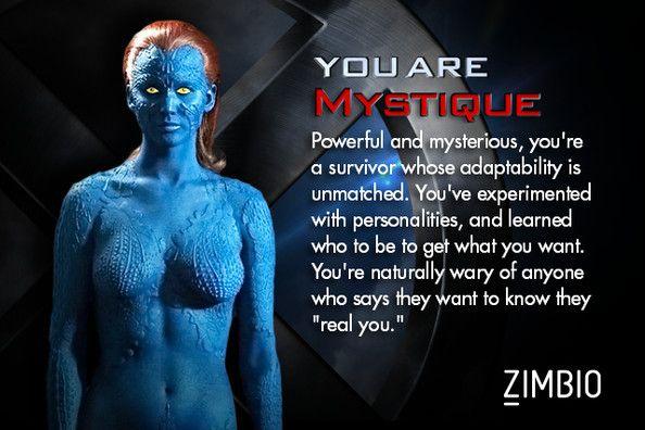 Which X Men Character Are You X Men Mystique Xmen Mystique Marvel