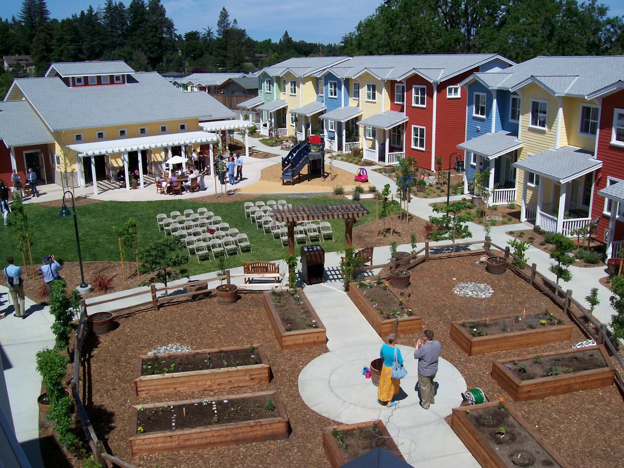 Cohousing Is An Innovative Approach To Housing Where Private Homes Are Clustered Around Extensive C Tiny House Community Tiny House Village Pocket Neighborhood