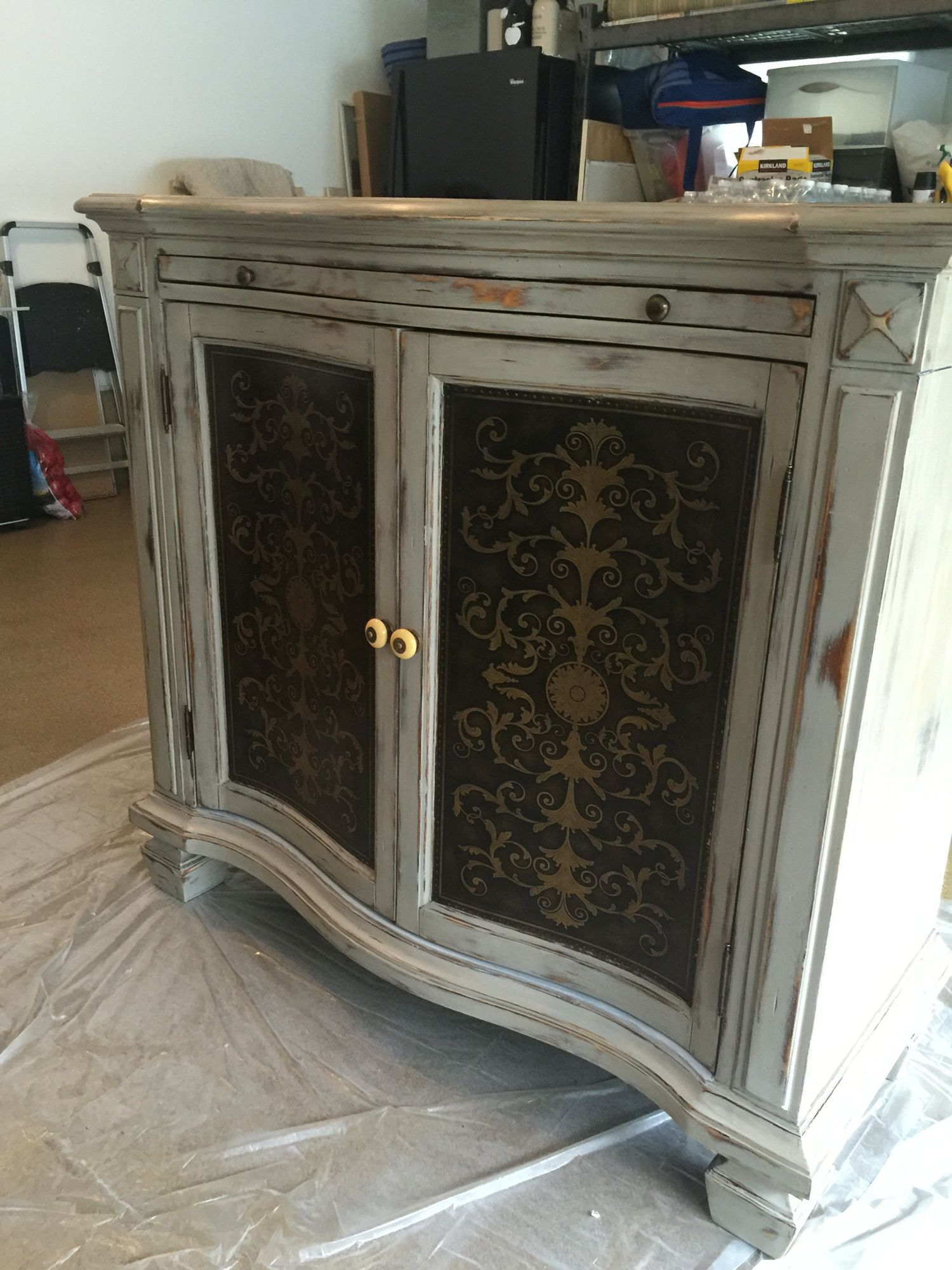Rustoleum Aged Gray With Minwax Provincial Stain Wiped