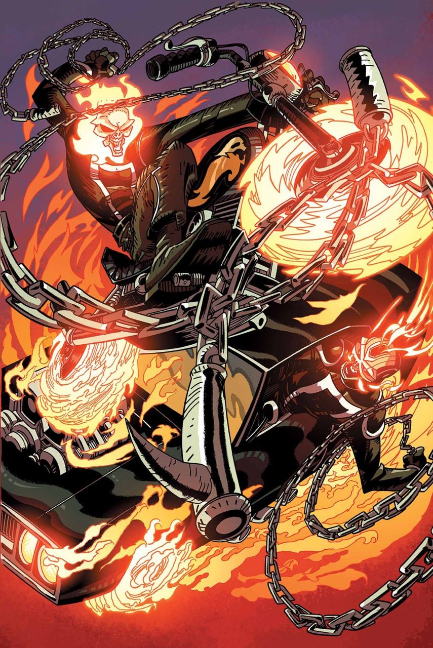 All-New Ghost Rider #8 - Robbie Reyes vs. Johnny Blaze by Damion Scott, Robert Campanella, and Val Staples *