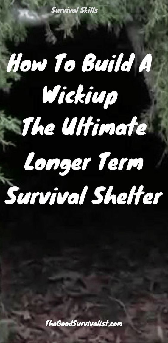This is one of the better longer term survival shelters you can make. We like it because it is fairly easy to make