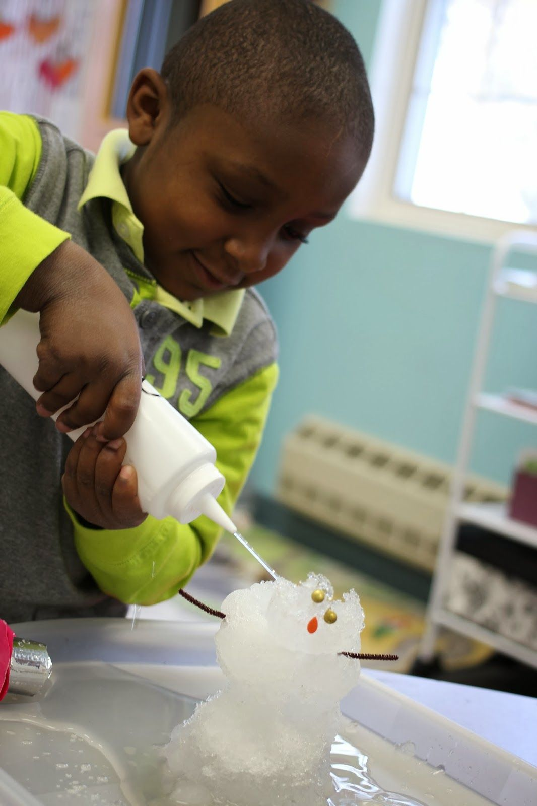 Making Predictions On What Will Happen If You Add Warm Water To A Snowman A Great Prek Activity