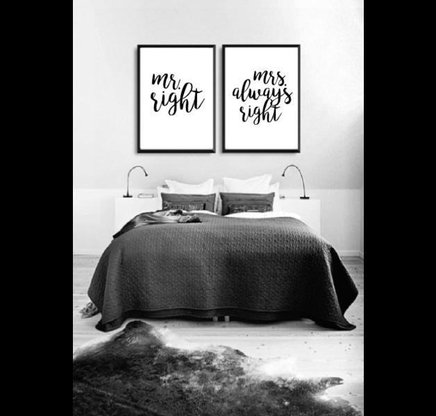 Zwei Poster für Schlafzimmer. Poster auf hochwertigem Satin ...