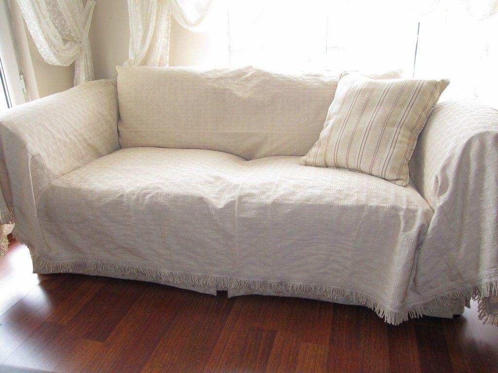 Large   Sofa Throw Covers Rectangle Tassel Ivory Couch Coverlet Woven   Pet    Furniture Protectors   Buldan Fabric By Nurdanceyiz Turkey By Nurdanceyiz  On ...