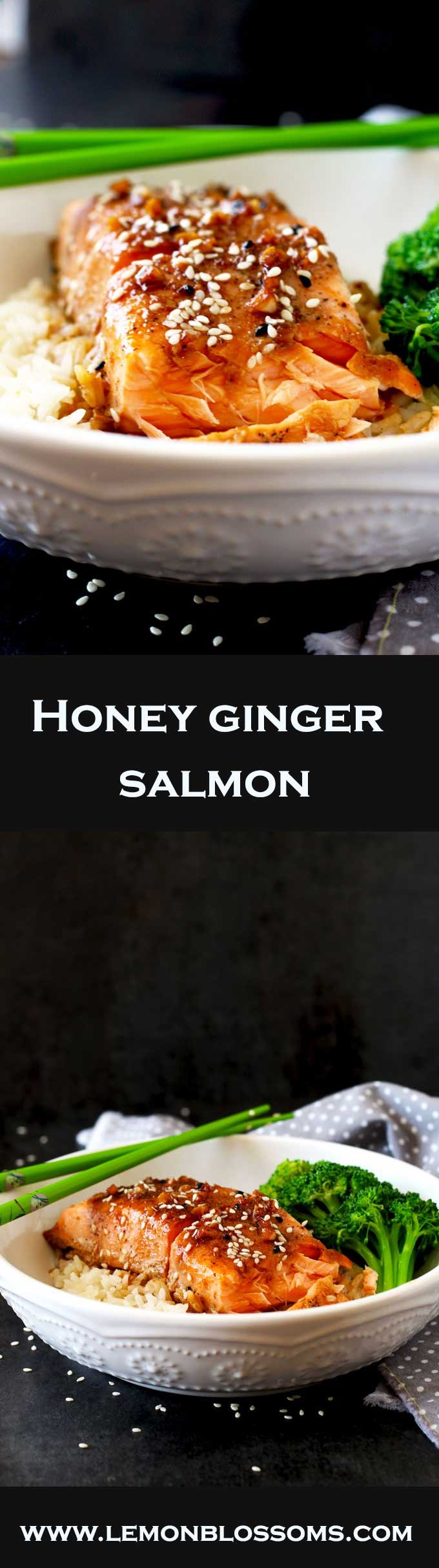 This Asian inspired Honey Ginger Salmon is not only healthy and delicious but super easy to make. The best part is you can have dinner ready in 20 minutes!