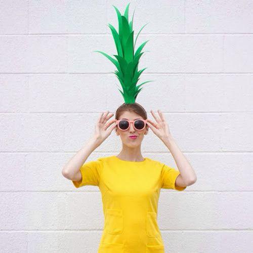 diy last minute ananas kost m karneval in 2019 kost m. Black Bedroom Furniture Sets. Home Design Ideas