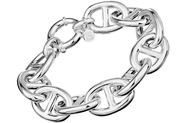 Bracelet chaîne maille marine en argent 925, 45.7g   Clio Blue ... 78806a2d120