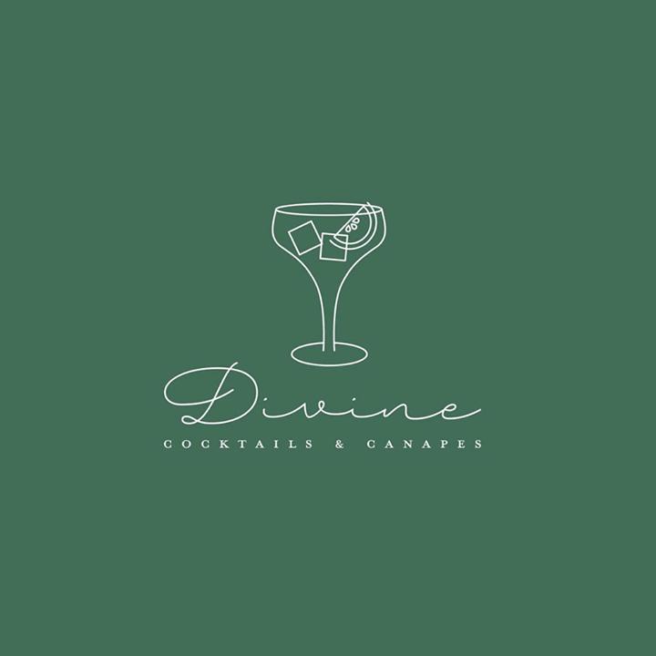 Divine Cocktails Canapes Illustrated Logo Design Share Via Lucys Logos 83oranges Follow 83or Bar Logo Logo Illustration Design Cocktail Bar Design