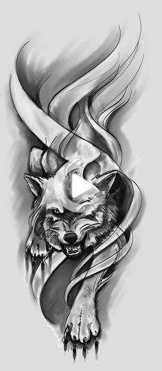 Wolf Design Sketch by Green-Jet on DeviantArt