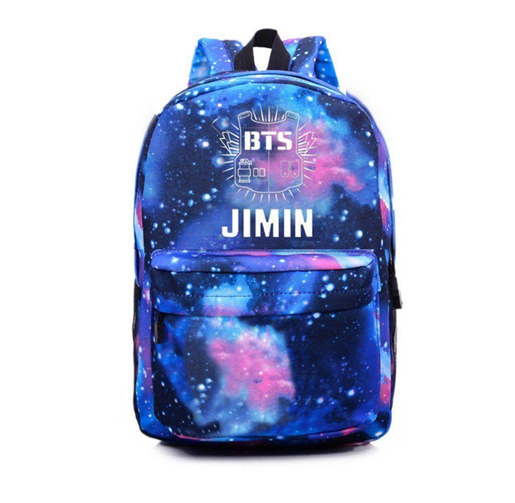 Amazon.com   KPOP Bangtan Boys BTS Schoolbag Backpack Student Bag Starry Sky  Satchel (Jungkook)   Clothing 6d25440372890