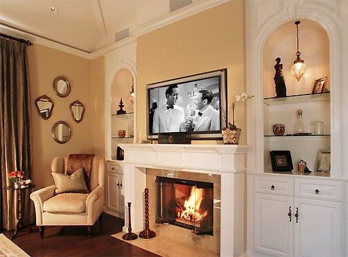 Pin de Morgane Weasley en Home  Living Room Pinterest - chimeneas interiores