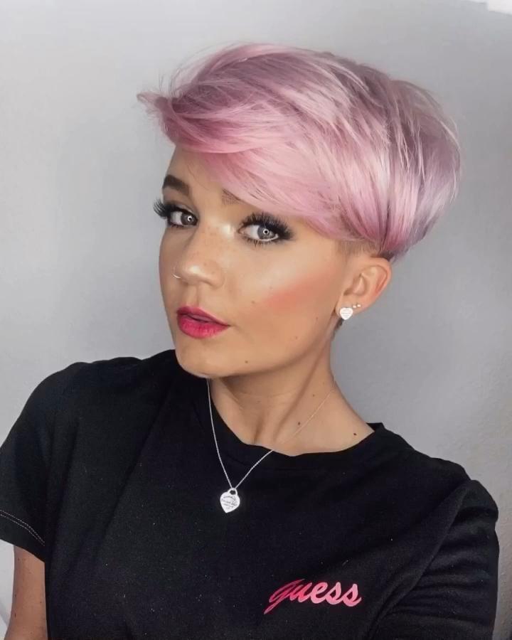 PINK HAIR 🌸 -   19 hair Rose Gold pixie ideas