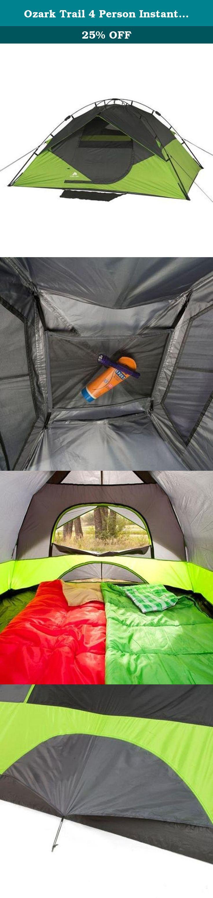 Ozark Trail 4 Person Instant Dome Tent. The Ozark Trail Instant Dome Tent sets up & Ozark Trail 4 Person Instant Dome Tent. The Ozark Trail Instant ...