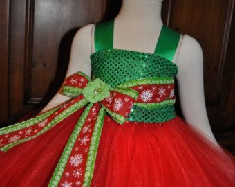 Nice christmas dresses red green girls holiday dress toddler