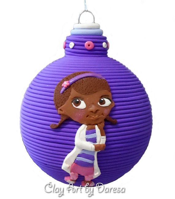 Doc McStuffins inspired Christmas polymer clay by ClayArtbyDaresa