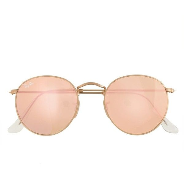 J.Crew Ray-Ban Retro Round Sunglasses With Flash Lenses (2.976.445 ... cf00ed36b4
