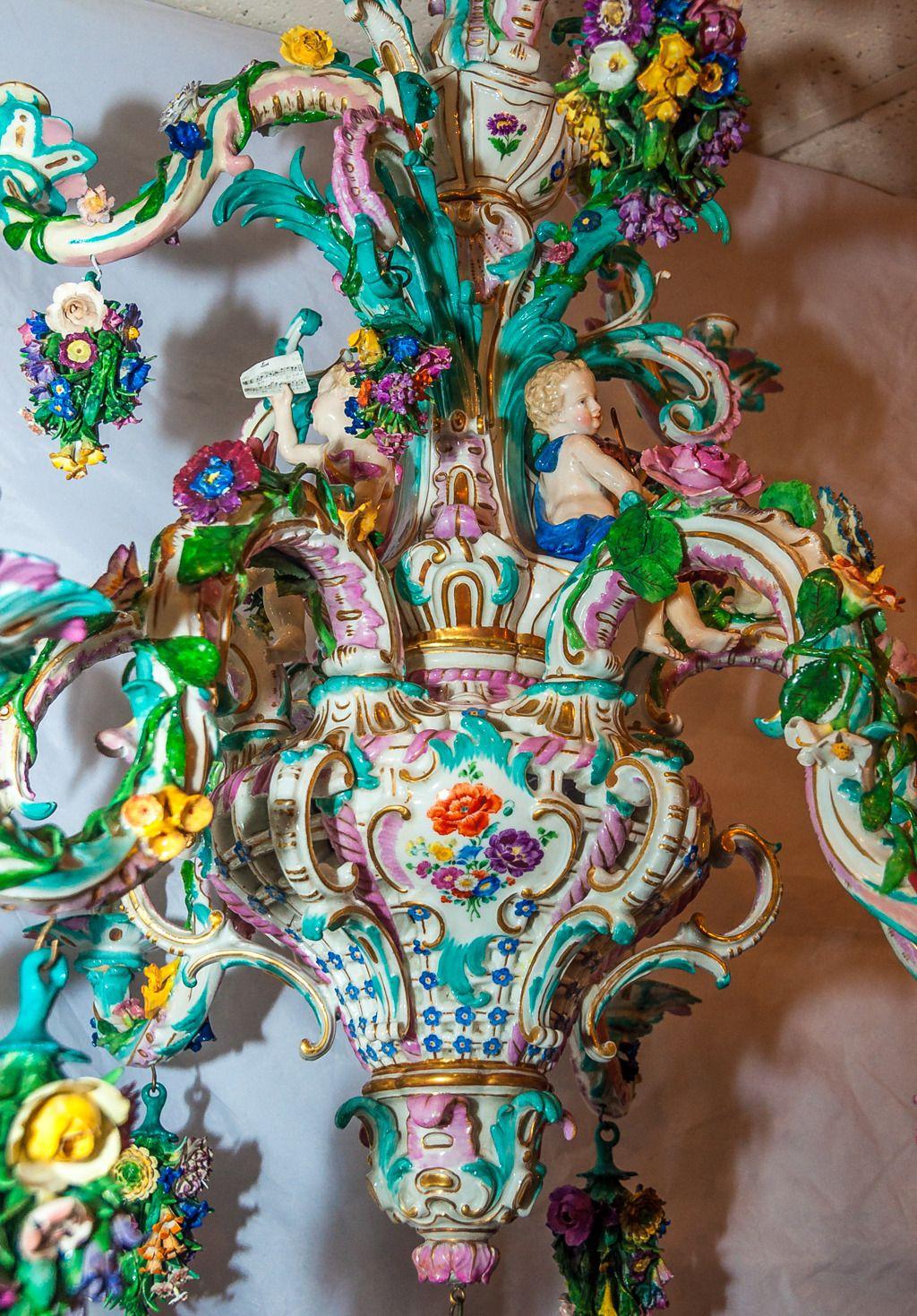 Porcelain chandelier antique best 2000 antique decor ideas antique porcelain chandeliers furniture arubaitofo Images
