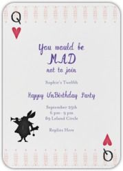 You would be mad not to join halloween costumes pinterest cute online invite from paperless post a very happy unbirthday alice in wonderland stopboris Image collections