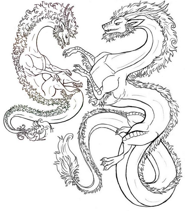 Coloriage adulte animaux fantastiques dragons 10 - Dessin animaux fantastiques ...