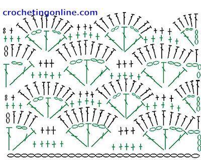 How To Crochet Instructions Colored Shell Szydełko Wzory Beauteous Shell Crochet Pattern