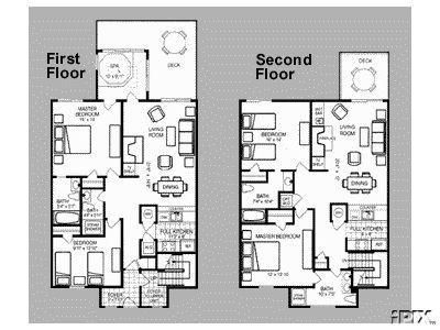 The Historic Powhatan Resort Photo - Powhatan - Unit Floor Plan | Floor Plans, Bedroom Floor Plans, 3 Bedroom Floor Plan
