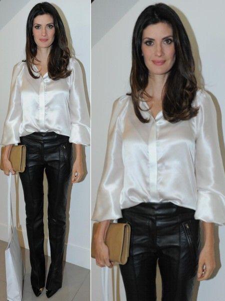 Isabella Fiorentino Eliana x Isabella  Quem ficou melhor com a calça de  couro  b021a9399a12f