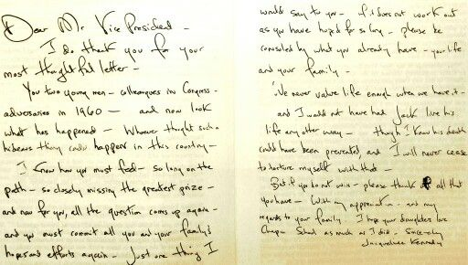 Jacqueline KennedyS Handwritten Response To Richard NixonS