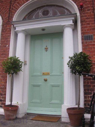 Mint Green Door Green Door Brick House Green Door Green Front Doors