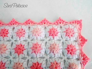 This soft and fluffy blanket for babies is crocheted quickly but consumes a lot of yarn.
