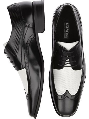 9b738929f712 Stacy Adams Whitby Black and White Wingtip Shoes