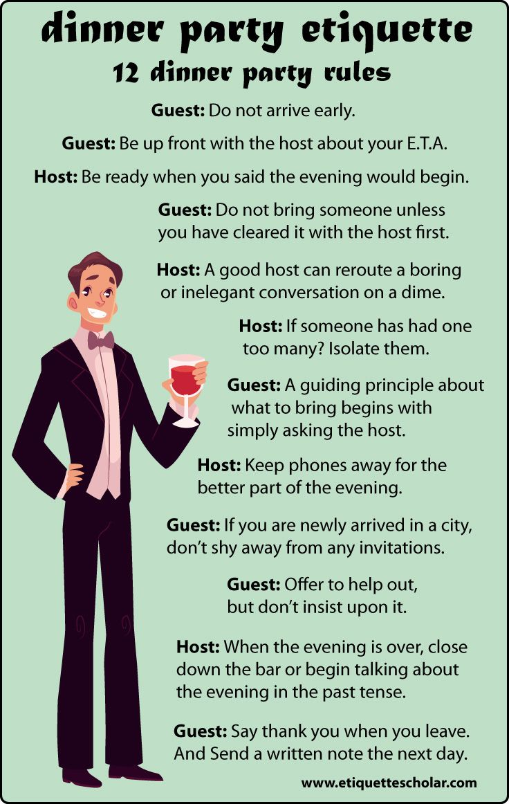 12 Dinner Party Etiquette Rules Great Dinner Party