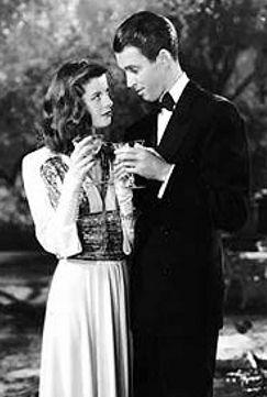 The Philadelphia Story, Katharine Hepburn and James Stewart