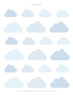 sweet cloud printable cake toppers or tags (or whatever you are ...