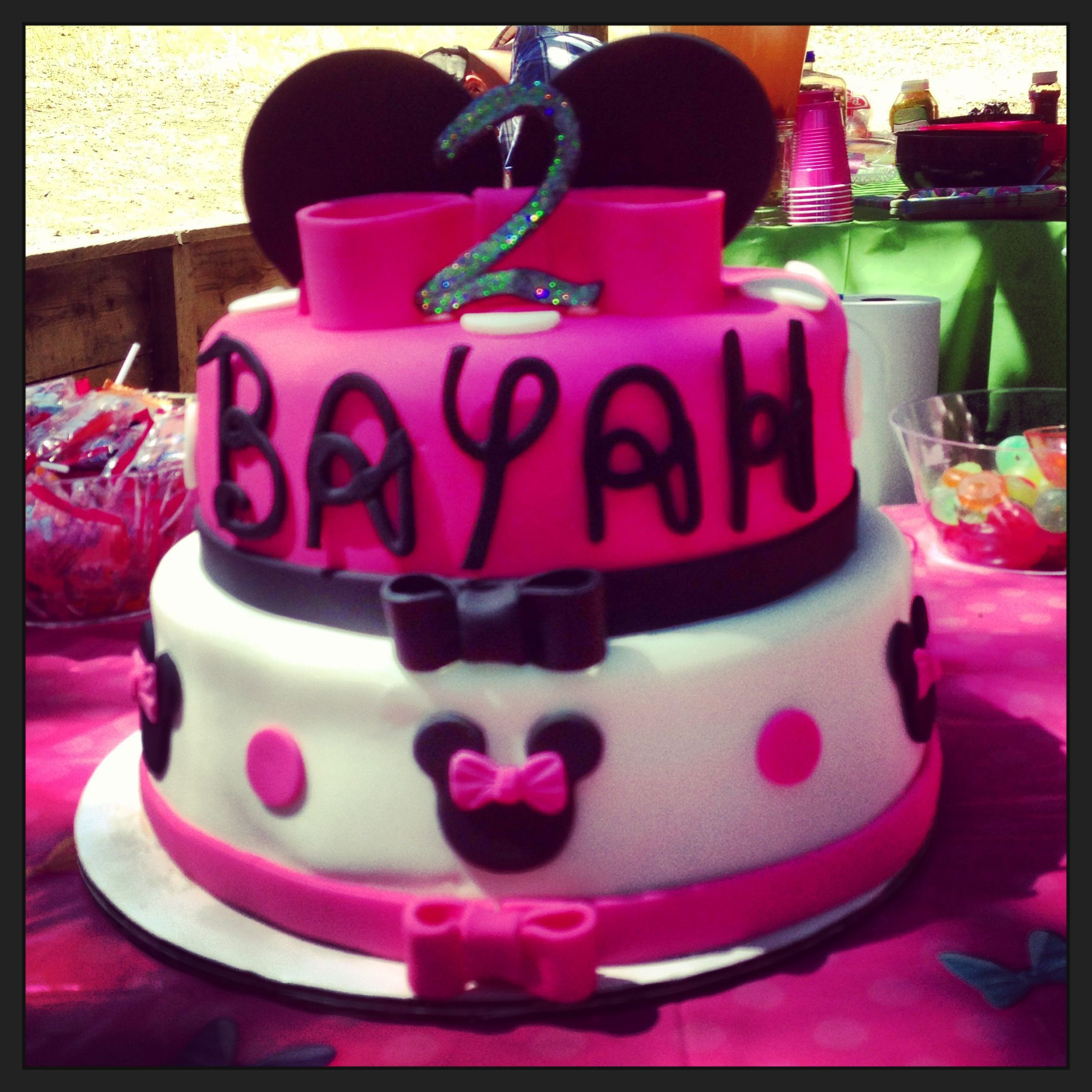 My daughters Minnie Mouse birthday cake.