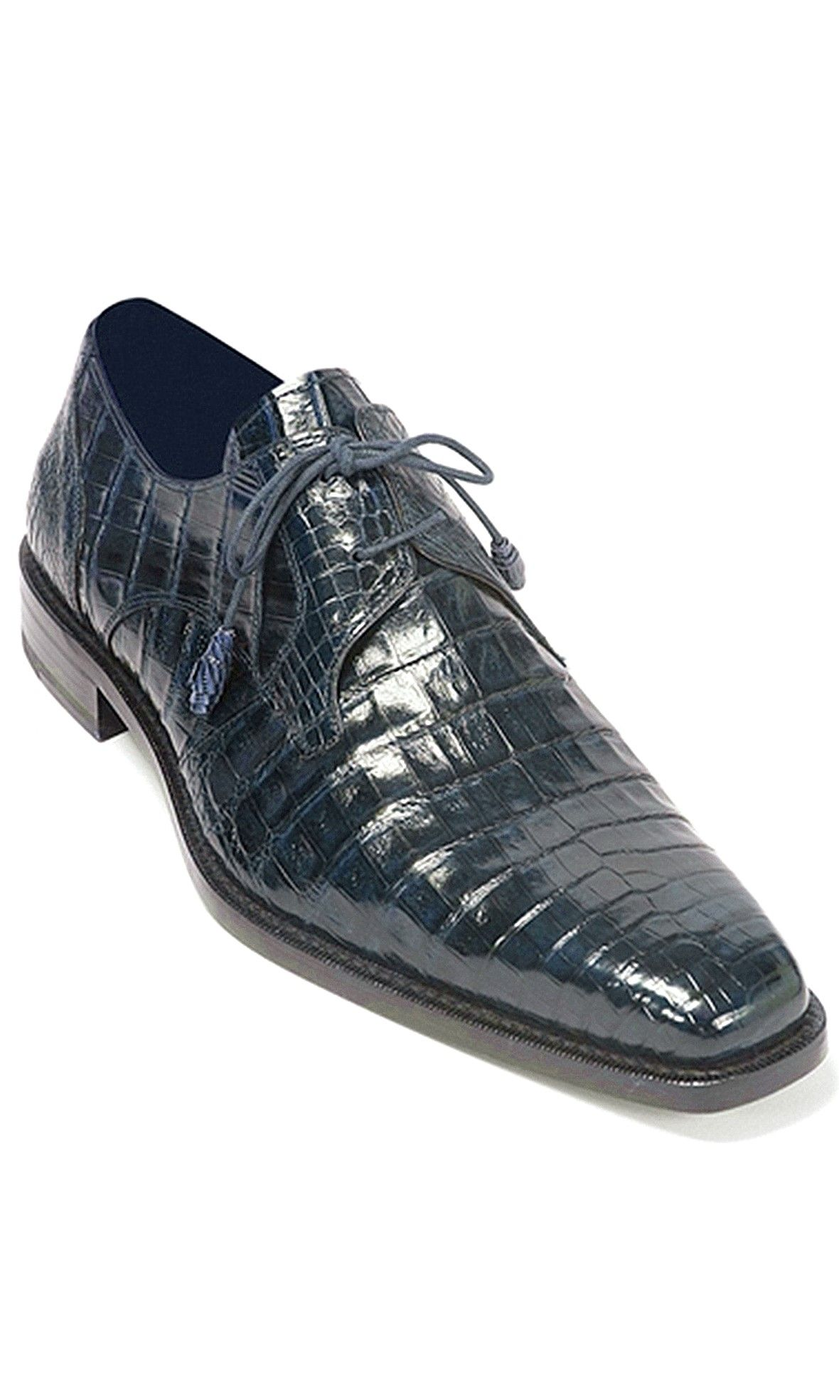 New Men Real Leather Dress Formal Shoes Crocodile Embossed Brown Black Oxfords