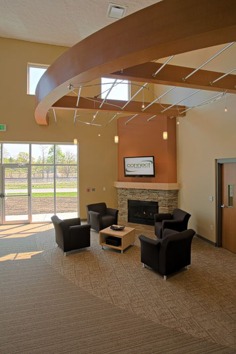 Church Foyer Furniture And Decor : Warmth clouds sculpted flooring demotte in lobby