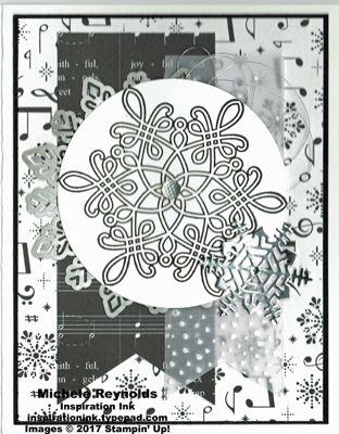 Flurry of Wishes Black  White Snow handmade Christmas card using - christmas cards black and white