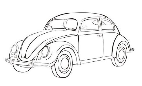 At now, there are a lot of sites offering Volkswagen Beetle car coloring pages. These pages are created by a great illustrator and are aimed for kiddos who